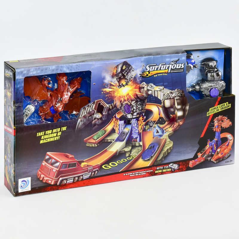 Гоночный автотрек 2в1 9988-6 (6) «Битва с роботом и драконом» в коробке