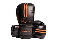 Боксерские перчатки PowerPlay 3016 Черно-Оранжевые 12 унций, фото 1