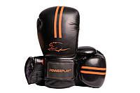 Боксерские перчатки PowerPlay 3016 Черно-Оранжевые 14 унций, фото 1