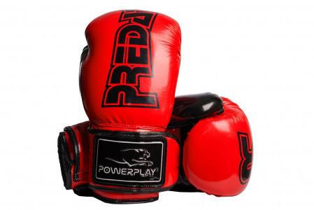 Боксерские перчатки PowerPlay 3017 Красные карбон 14 унций
