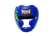 Боксерский шлем тренировочный PowerPlay 3043 Синий S / M / L / XL, фото 2