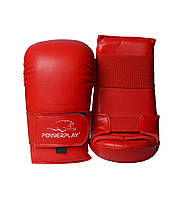 Перчатки для каратэ PowerPlay 3027 Красные M, фото 1