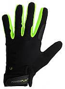Перчатки для Кроссфит PowerPlay Hit Full Finger Черно-Зеленые XL, фото 2
