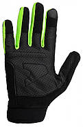 Перчатки для Кроссфит PowerPlay Hit Full Finger Черно-Зеленые XL, фото 3