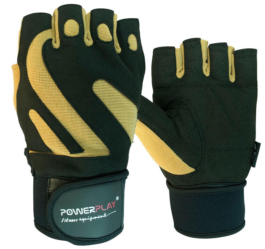 Перчатки для фитнеса PowerPlay 1064 F Черно-Коричневые XL