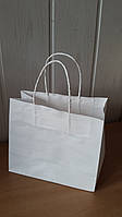 Пакет из Крафт бумаги 230х200х90 белый / упаковка 5 шт