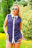 Яркая блуза, летняя, рубашечного покроя, воротник, креп-шифон