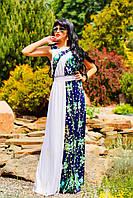 Платье в пол, микромасло, белое, фото 1