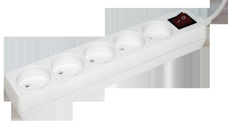 Удлинитель У5К-выкл. 5 мест 2Р/5метров 2х0.75мм2 10А/250 IEK
