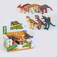Набор динозавров 8069 А (12) /ЦЕНА ЗА БЛОК/ 6шт в блоке, мягкие, музыкальные, на батарейке