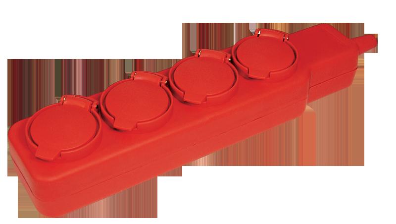 Удлинитель У04В 4 места с защитными крышками IP44 2Р+PE/5метров 3х1мм2 16А/250В ИЭК