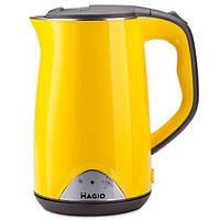 Желтый электрический чайник Magio MG-515N чайник-термос 1,7 л