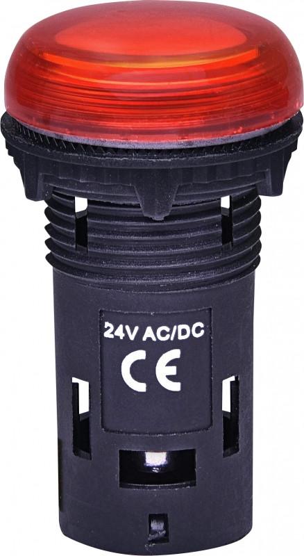 Лампа сигнал. LED матовая ECLI-024C-R 24V AC/DC (красная)
