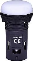 Лампа сигнал. LED матовая ECLI-240A-W 240V AC (белая)