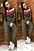 Модный комбинезон в спортивном стиле с капюшоном, фото 2