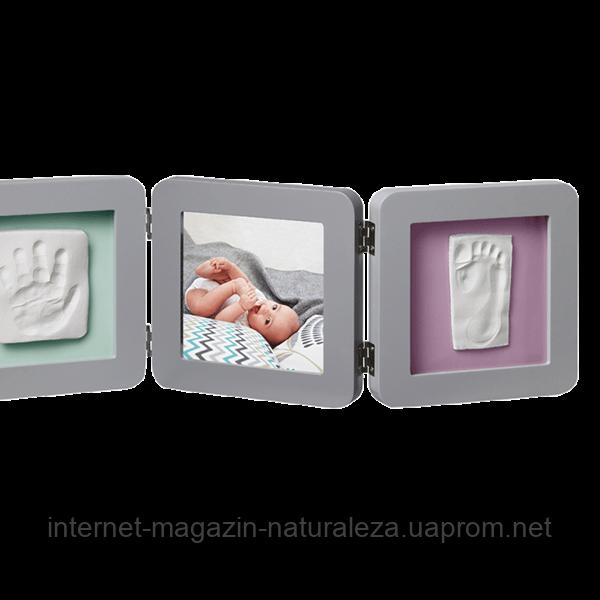 Рамка для фото Baby Art Double Print Frame grey