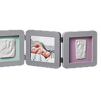 Рамка для фото Baby Art Double Print Frame grey