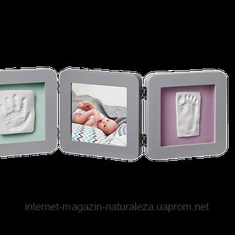 Рамка для фото Baby Art Double Print Frame grey, фото 2