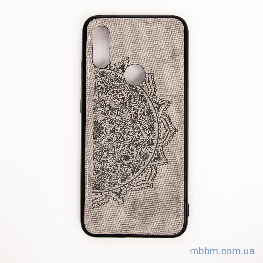 Накладка TPU+Textile Mandala с 3D тиснением Xiaomi Redmi 7 grey