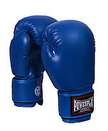 Боксерские перчатки PowerPlay 3004 Синие 10 oz 12 oz 14 oz 16 oz 18 oz, фото 2
