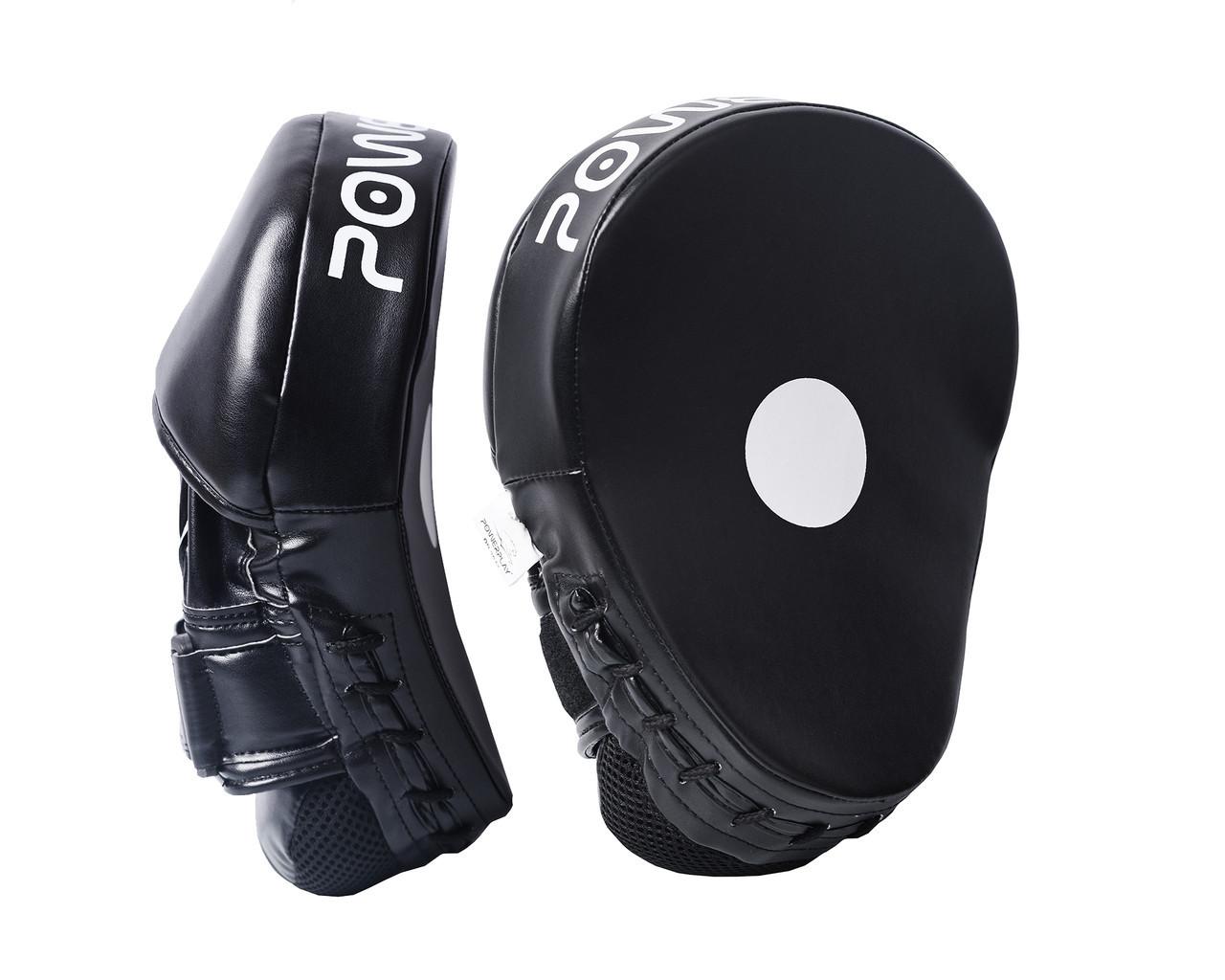 Лапы боксерские PowerPlay 3041 Черные PU [пара]