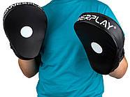 Лапы боксерские PowerPlay 3041 Черные PU [пара], фото 5