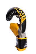 Снарядные перчатки PowerPlay 3038 Черно-Желтые S / M / L / XL, фото 2