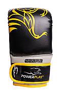 Снарядные перчатки PowerPlay 3038 Черно-Желтые S / M / L / XL, фото 3