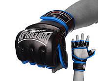 Перчатки для MMA PowerPlay 3058 Черно-Синие S/ M / L / XL, фото 1