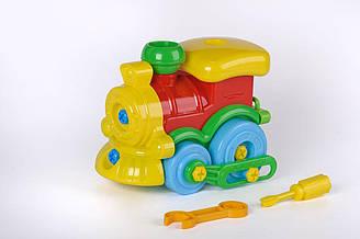 Развивающий конструктор «Паровозик» Toys Plast (ИП 30003)