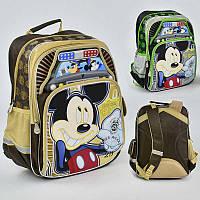 Рюкзак МВ 0479 / 555-512 (20) 2 цвета, 2 отделения, 4 кармана, брелок, ортопедическая спинка