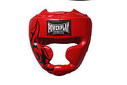 Боксерский шлем тренировочный PowerPlay 3043 Красный S / M / L / XL, фото 2