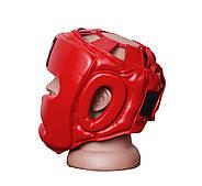 Боксерский шлем тренировочный PowerPlay 3043 Красный S / M / L / XL, фото 3