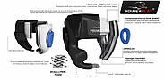 Боксерский шлем тренировочный PowerPlay 3043 Красный S / M / L / XL, фото 6