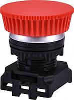 Кнопка-модуль грибок EGM-P-RCh (без фикс., красная/хром)