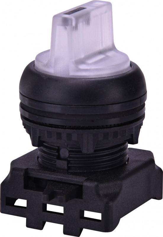 Выкл. поворотн. EGS2I-N-W (2-х поз., с фикс. с подсв. 0-1, 45°, белый)