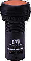 Кнопка монобл. утопл. ECF-11-A (1NO+1NC, оранжевая)
