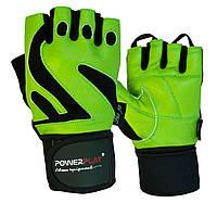 Перчатки для фитнеса PowerPlay 1064 D Зеленые L