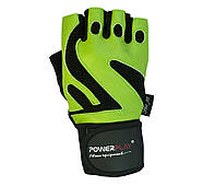 Перчатки для фитнеса PowerPlay 1064 D Зеленые L, фото 2