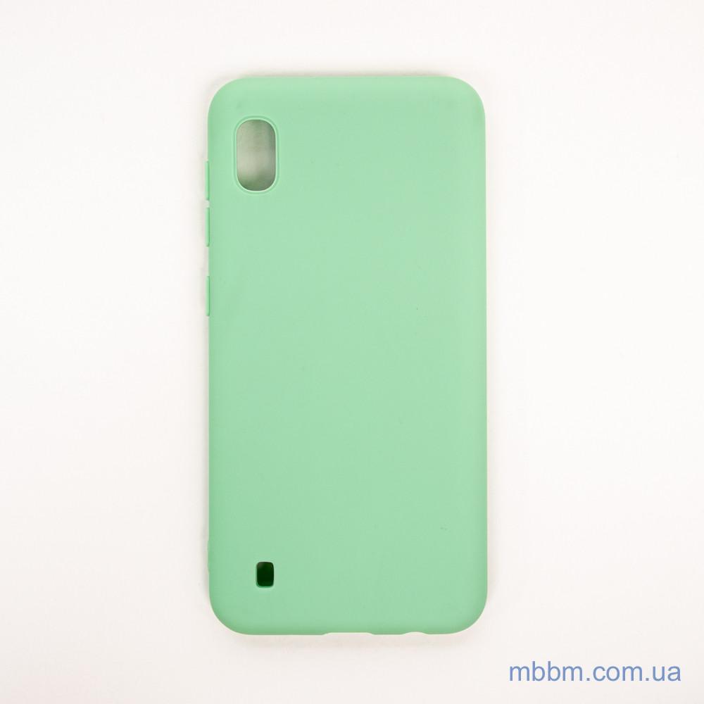 Чехол Silicon Soft cover Magnetic под магнитный держатель Samsung A10 ligt green