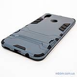 Ударопрочный чехол-подставка Transformer Huawei P Smart Plus metal slate, фото 2