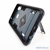 Ударопрочный чехол-подставка Transformer Huawei P Smart Plus metal slate, фото 4