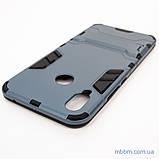 Ударопрочный чехол-подставка Transformer Huawei P Smart Plus metal slate, фото 5