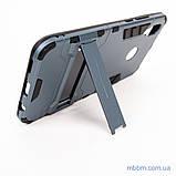 Ударопрочный чехол-подставка Transformer Huawei P Smart Plus metal slate, фото 6