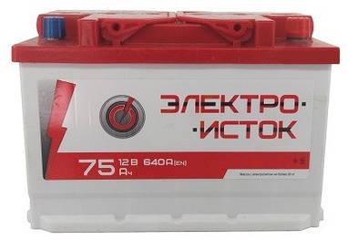 Автомобильный аккумулятор Электроисток 6СТ-75