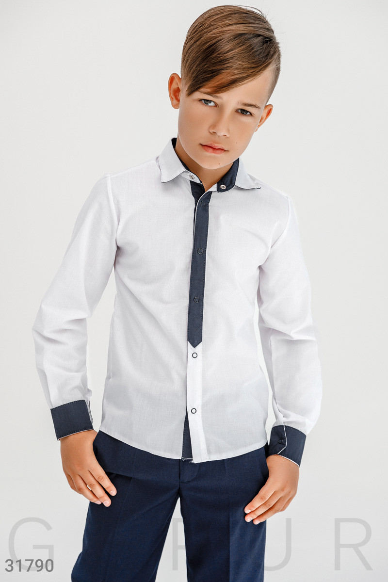 Классическая рубашка для мальчика | 122-146р.