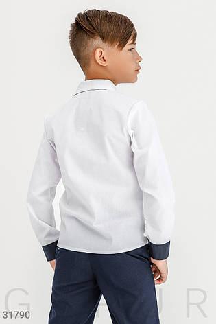 Классическая рубашка для мальчика | 122-146р., фото 2