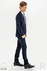 Детский костюм из вельвета мальчику | 122-146р. синий, Бесплатная доставка, фото 2
