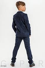 Детский костюм из вельвета мальчику | 122-146р. синий, Бесплатная доставка, фото 3