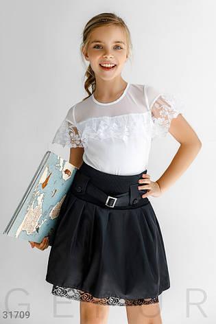 Блуза с кружевными вставками, фото 2